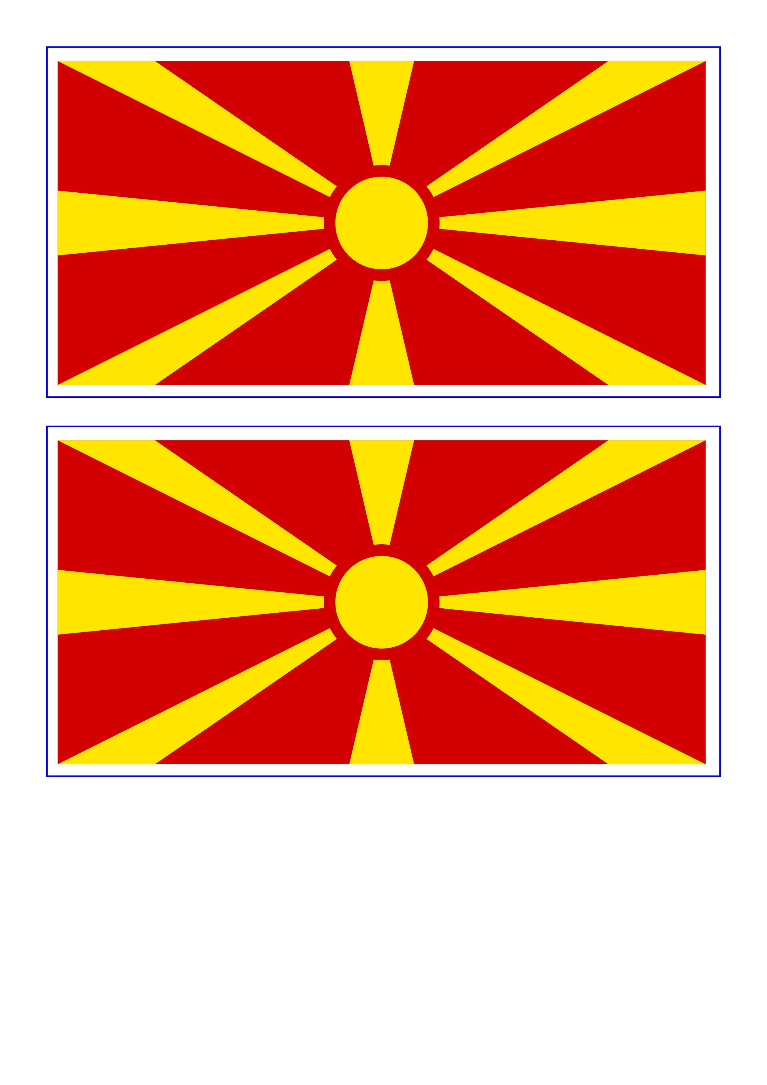 Macedonia Flag  Download this free printable Macedonia template