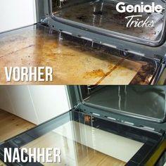 Ofen reinigen<< Du brauchst: Backpulver Wasser Essig Schwamm oder ...