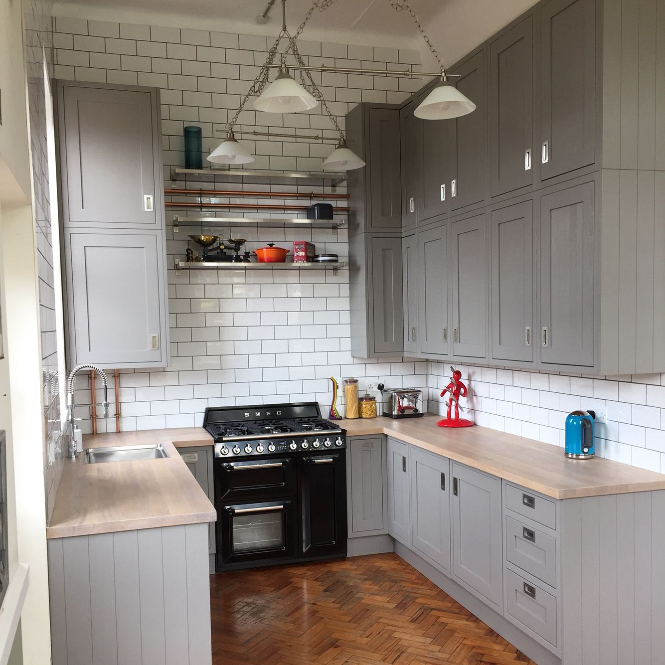 My Completed Kitchen B Amp Q Carisbrook Taupe Grey Gray