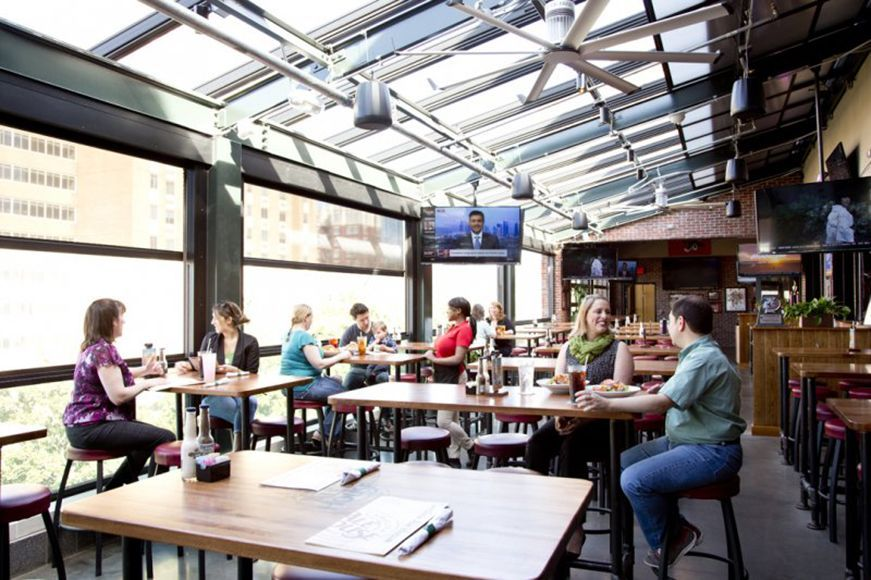 The New Rooftop Carolina Ale House Restaurant In Downtown Raleigh S Glenwood South District Will Be Incorpo House Restaurant Roofing Systems Glass Wall Systems