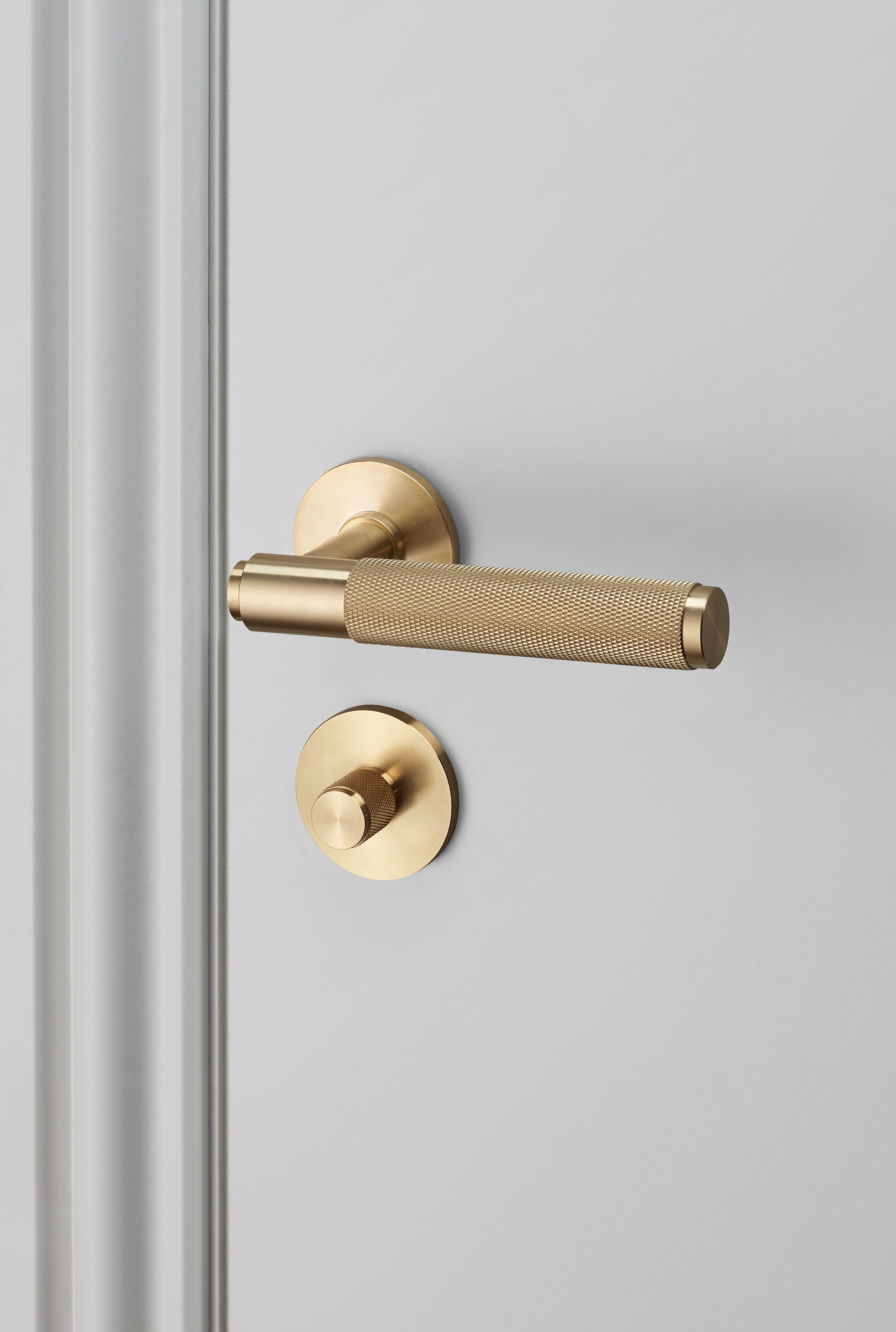 Door Lever Handle Brass And Thumbturn Lock Brass By Buster