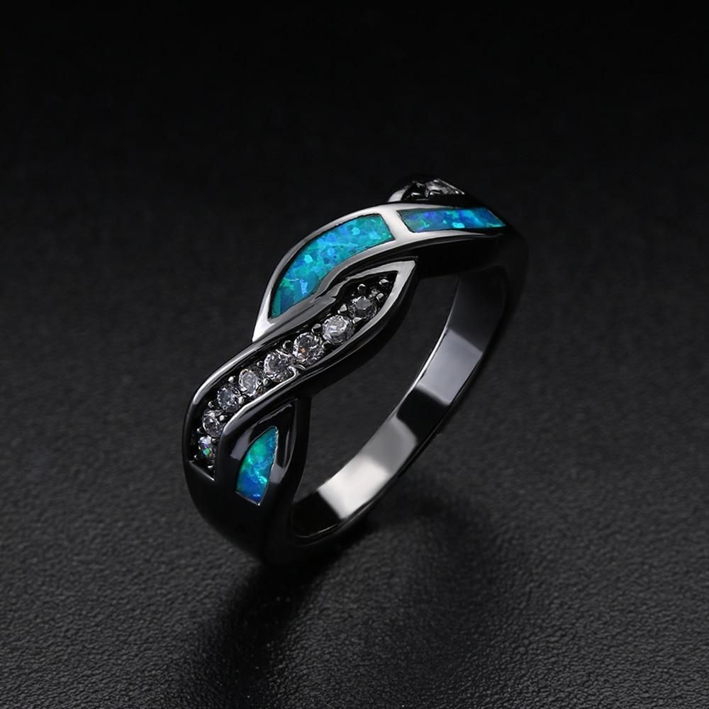 Blue Fire Zircon Crystal Ring In 2018 Products Rings Gold Band