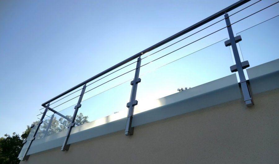 Garde corps ext rieur de type mixte verre et joncs inox for Barriere bois pour terrasse