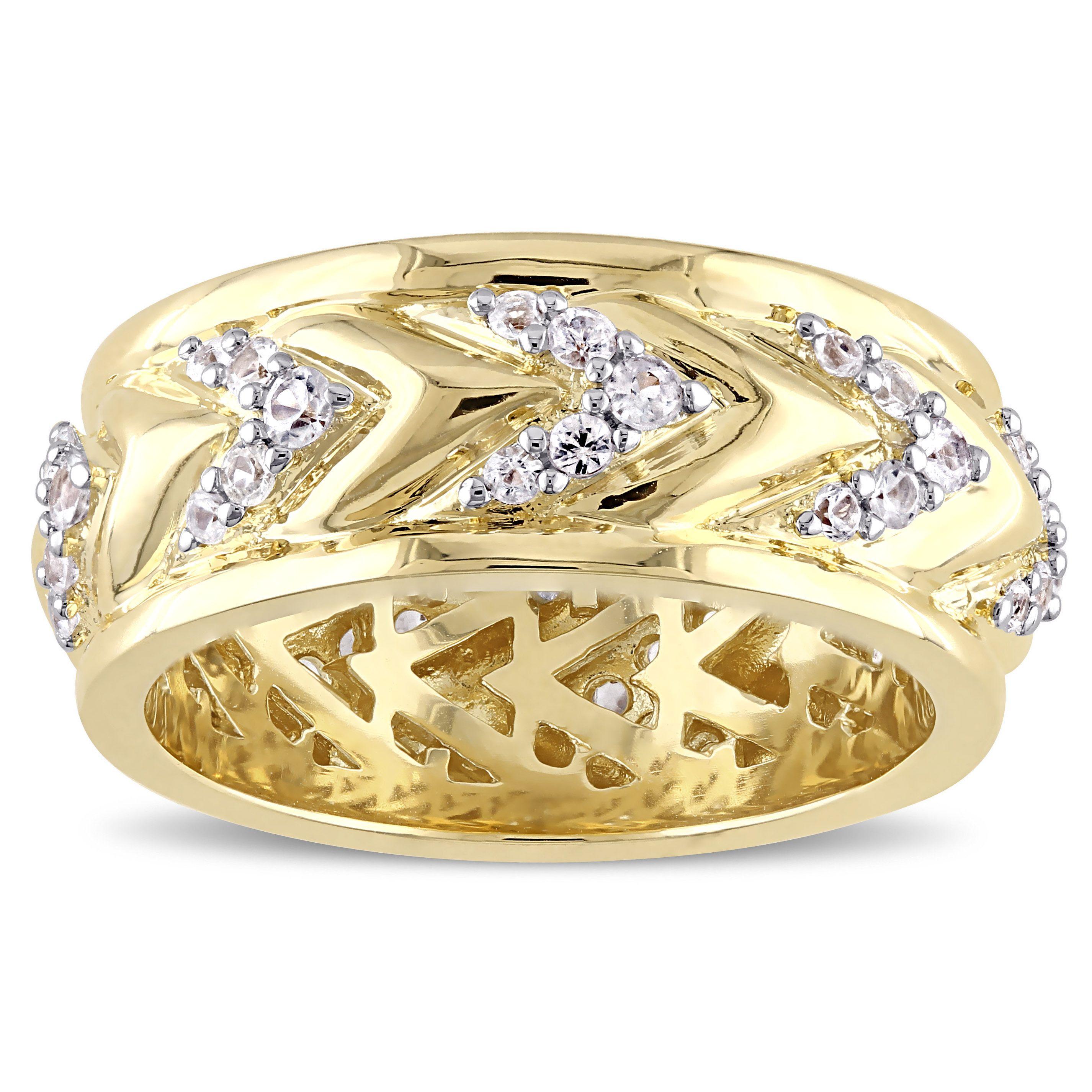 Versace abbigliamento sportivo srl sapphire zig zag ring in