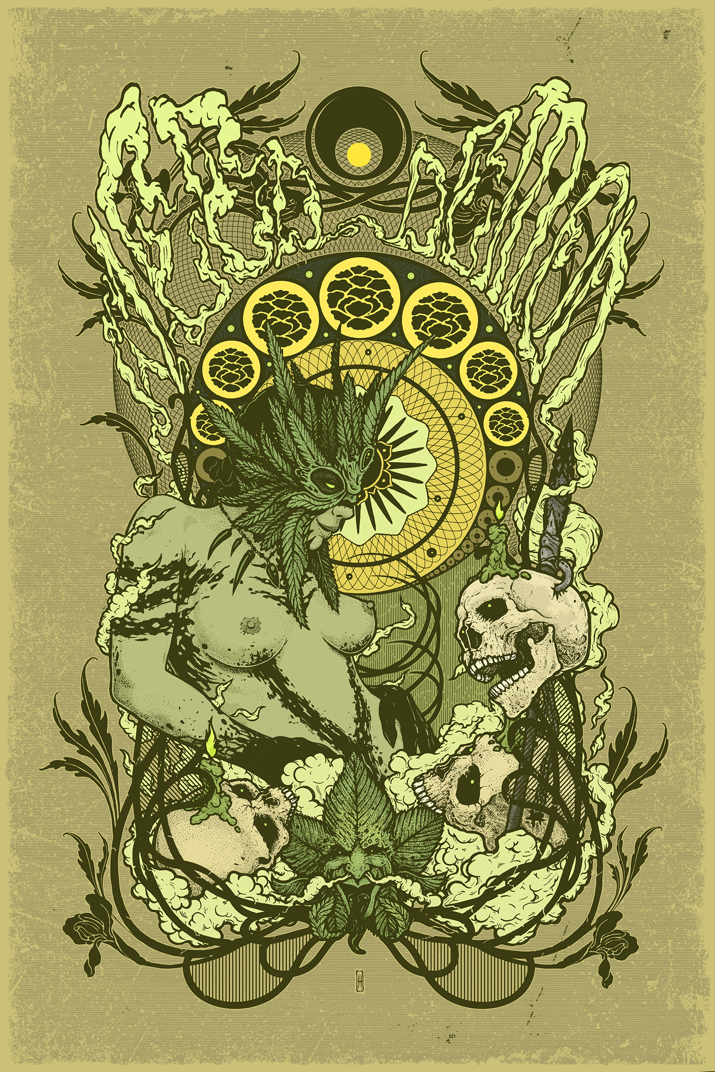 Weed Demon(US) - band poster artwork on Behance | Be | Band