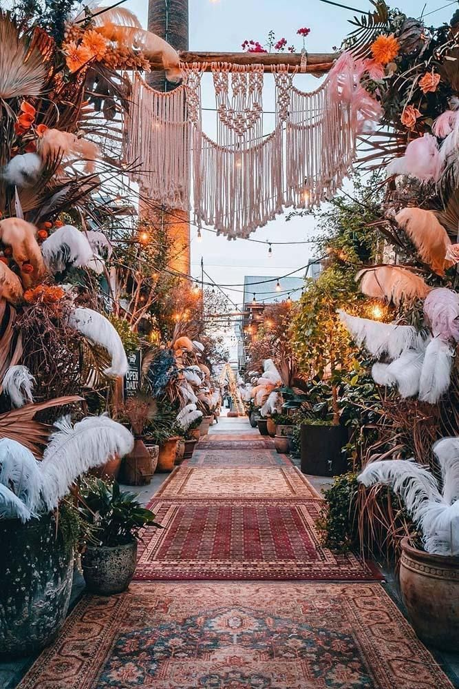 36 Inspirational Bridal Bohemian Decor Ideas | Wedding Forward