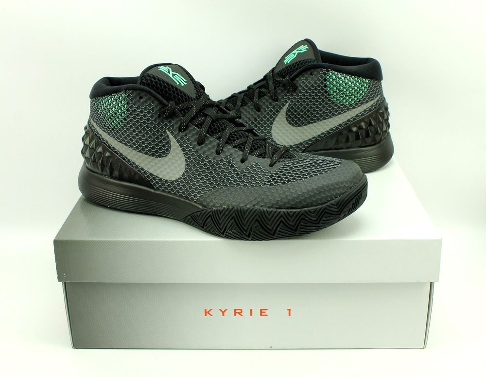 7d9ad7f5cc85 Nike Kyrie 1 Black Driveway Green Glow Basketball Shoes 705277-001 Mens 9.5   Nike  AthleticSneakers  weboys10