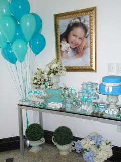 c91b4523dc L'apparato: 12 anos Azul, tiffany e prata | 15 Años | Tiffany, Festa ...