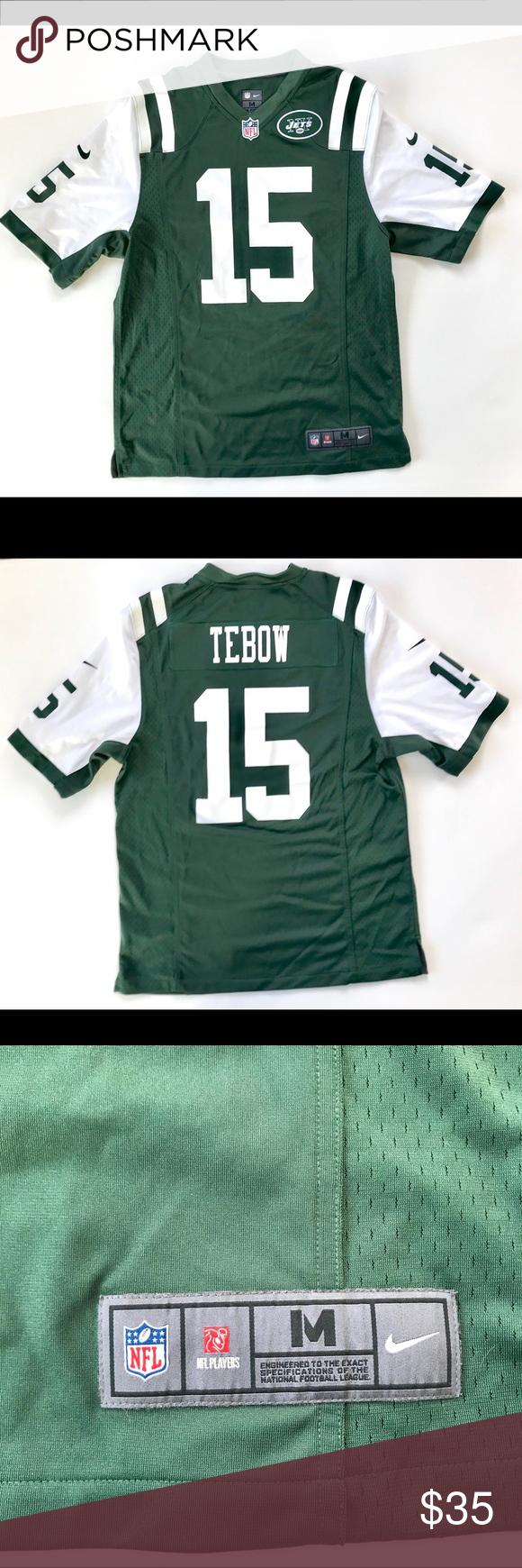 newest 98b46 e5e14 Men's Nike On Field Tim Tebow NY Jets Jersey M Men's Nike On ...