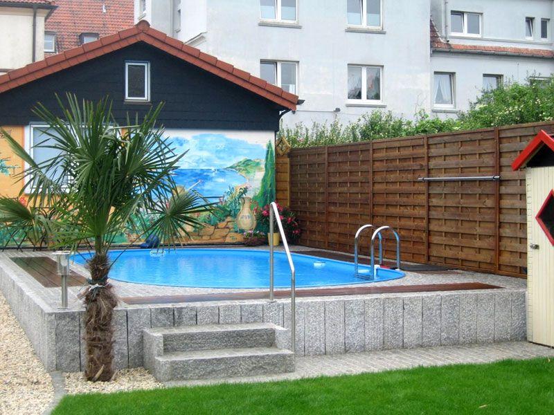 Granitpalisaden Als Poolumrandung Gartenpools Gartengestaltung Natursteine