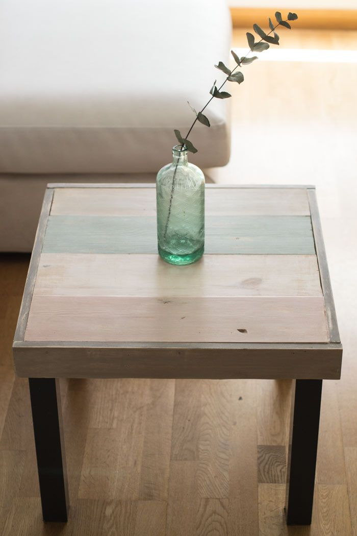 diy ikea lack, mesa con madera y chalkpaint #chalkikeando ...