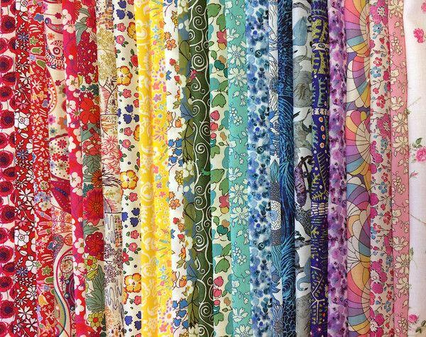 Liberty Tana Lawn: Rainbow Stash Pack: 25 pieces
