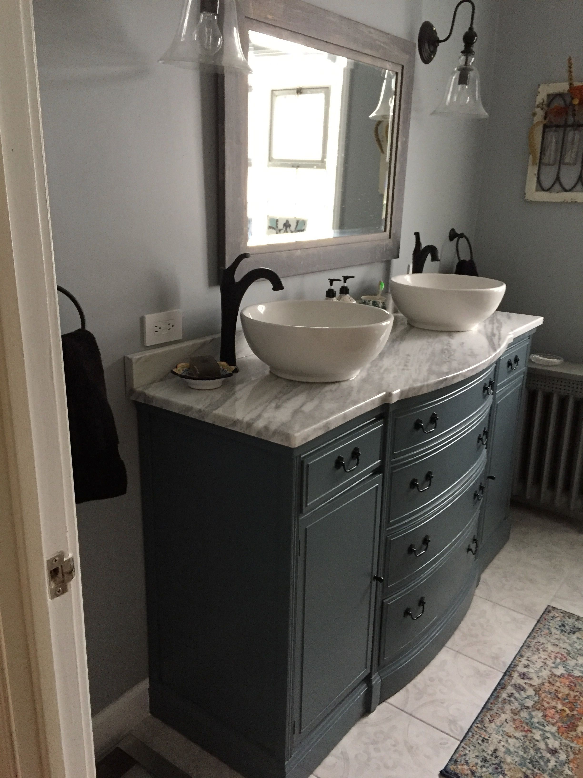 Old Buffet Conversion To Dual Sink Bathroom Vanity 50 Estate