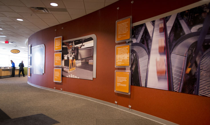 Perment Graphics And Environments For Corporate Showrooms Lobbies Solutions Training Centers