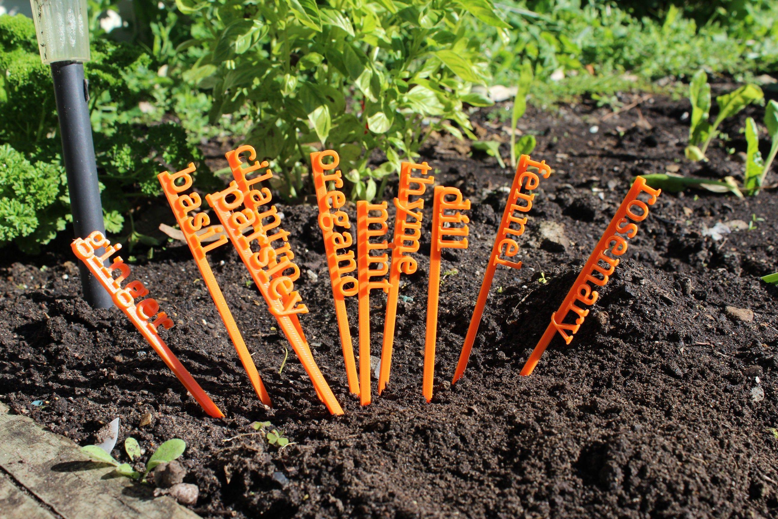 Custom garden herb signsstakes 10 pack garden stakes