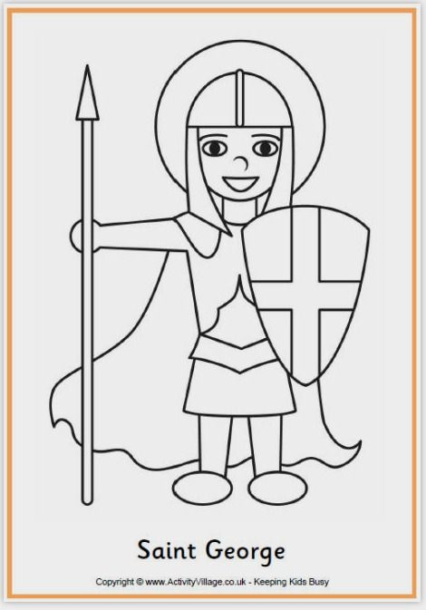 FREE Saint George Colouring Page - download and colour or collage ...