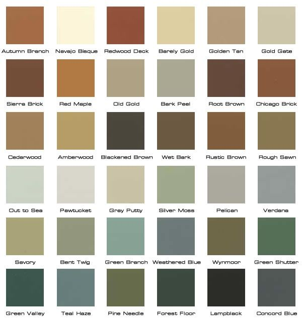 Rustic paint colors in