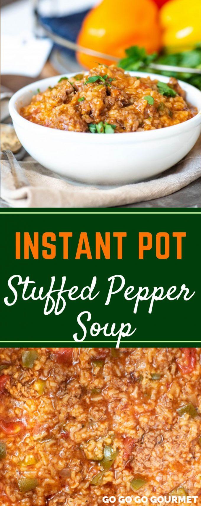 Stuffed Pepper Soup Instant Pot Stuffed Pepper Soup In 2020 Stuffed Pepper Soup Stuffed Peppers Skinny Taste Recipes