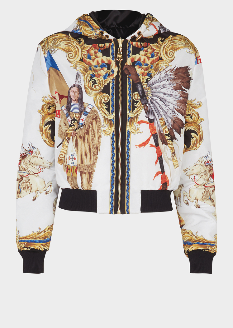 c1db7ac190 Native Americans FW'92 Print Jacket - Versace Jackets & Coats ...
