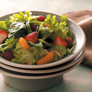Spring Greens with Berries and an Orange Vinaigrette