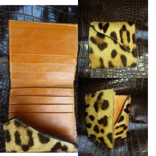 billetera leather jaguar by Walter Egea