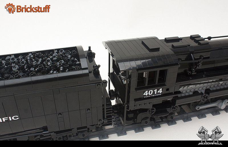 lego union pacific big boy in 1 38 lego locomotive pinterest