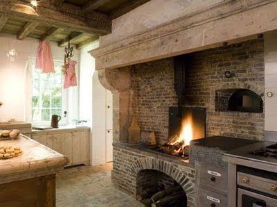 Kitchen hearth around the hearth pinterest hearths kitchens and fire places for Kitchen fireplace design ideas