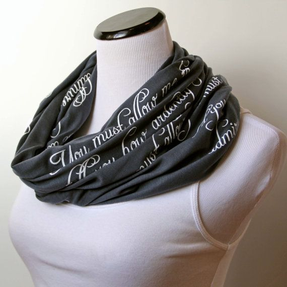 Mr. Darcy Proposal Scarf Pride And Prejudice Scarf