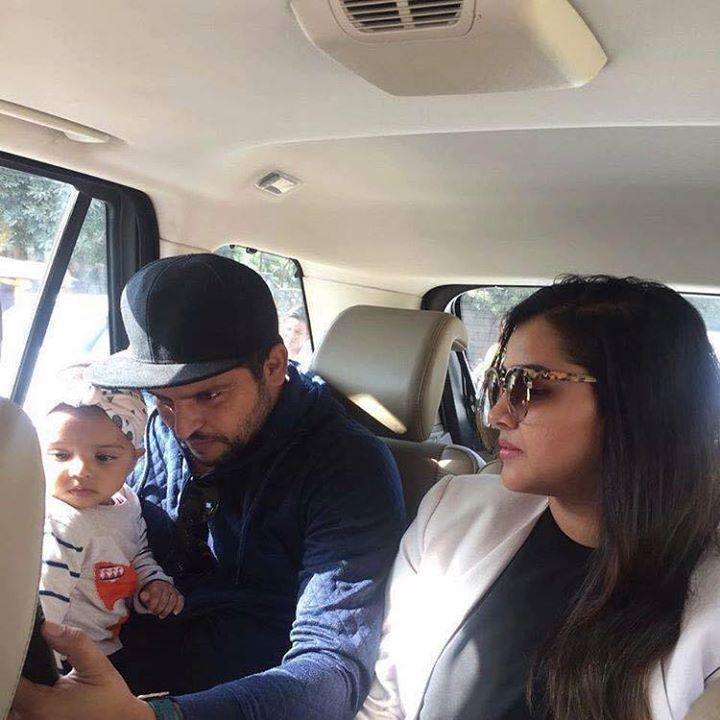 Suresh Raina with his family - http://ift.tt/1ZZ3e4d ...
