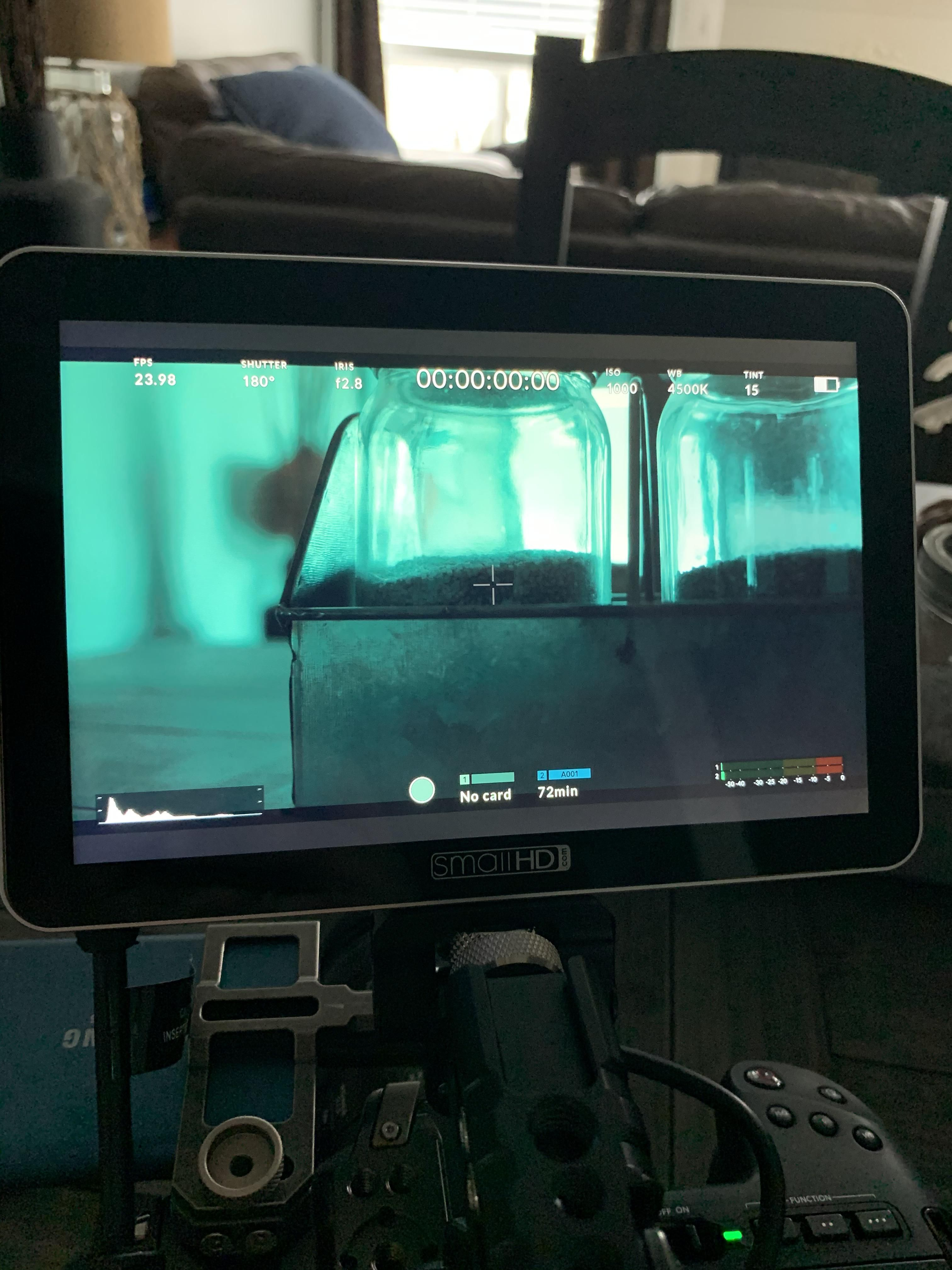 Can anybody with a smallhd focus 7 and bmpcc4k please tell me how to get rid of the grey bars to make the screen full? #Videography
