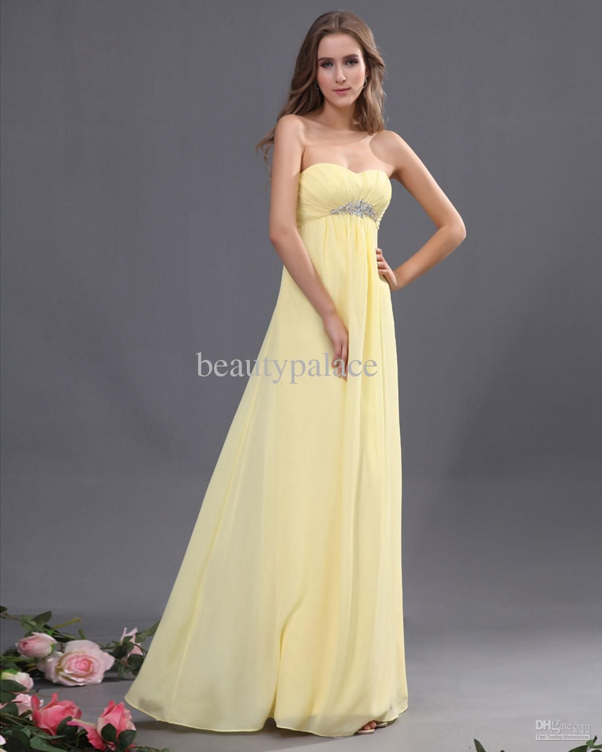 Yellow and Gray Bridesmaid Dresses Under $50