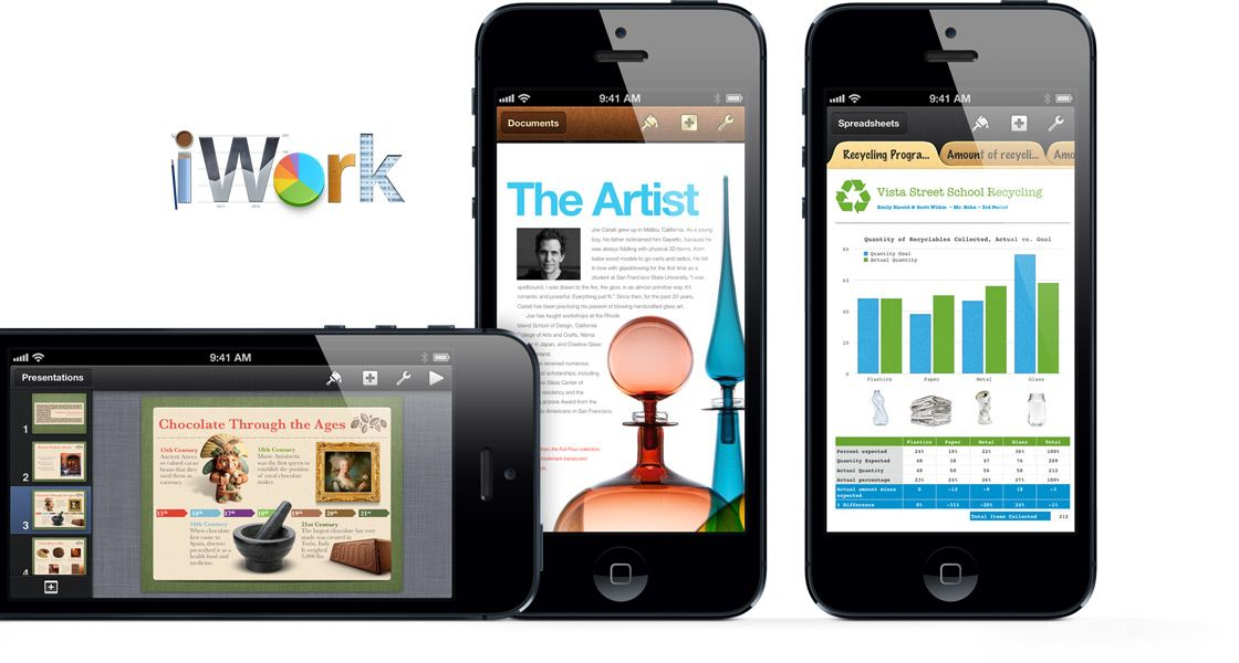 iWork with IPhone 5. ( September 12, 2012) S.F, California