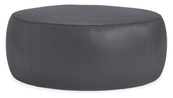 Magnificent Lind Round Leather Ottomans Products Round Leather Short Links Chair Design For Home Short Linksinfo
