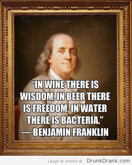 Ben Franklin Beer Quote: Pin By Drunk Drank On Alcohol