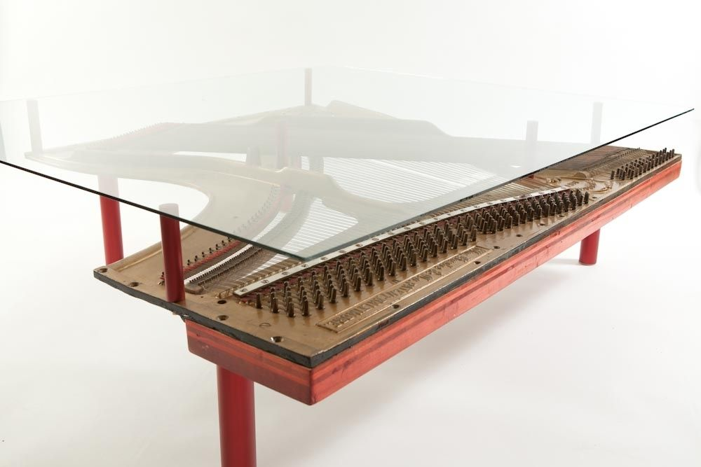 custom made reclaimed piano coffee table | furniture - coffee