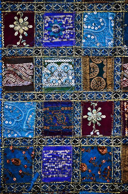 Hand Stitched Wall Hanging Tapestry Tapestry Quilts Fabric Art