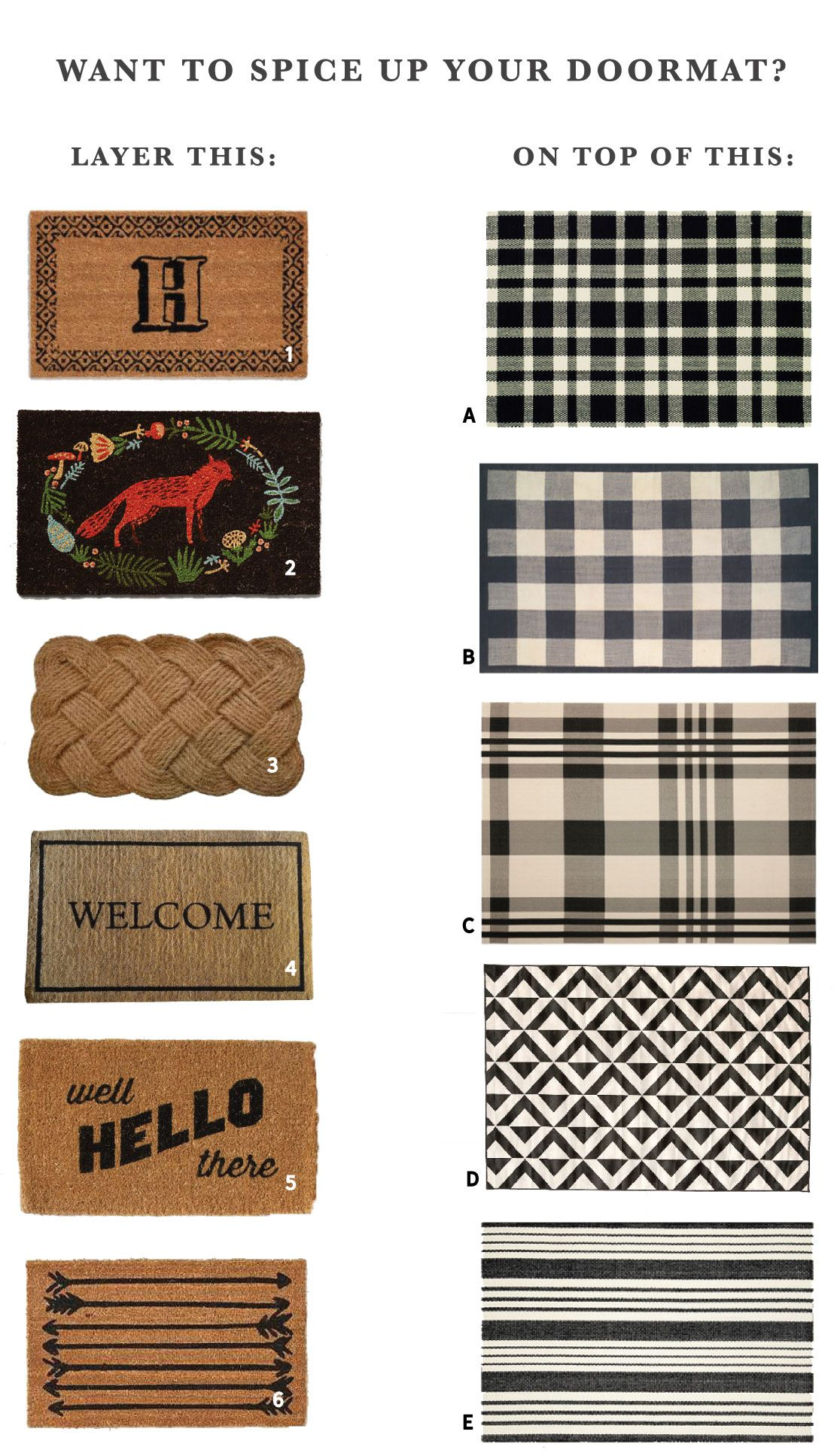Mix and match layered doormat options a podcast update doormat layered doormat options chris loves julia kristyandbryce Images