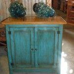 Custom Antique Turquoise Cabinet