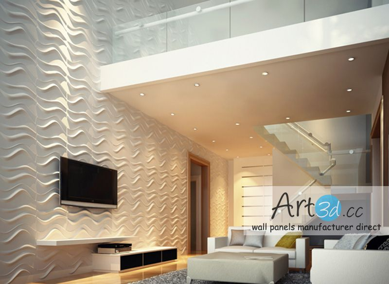 Interior wall design ideas living room 3d wall panels for Interior design ideas living room walls