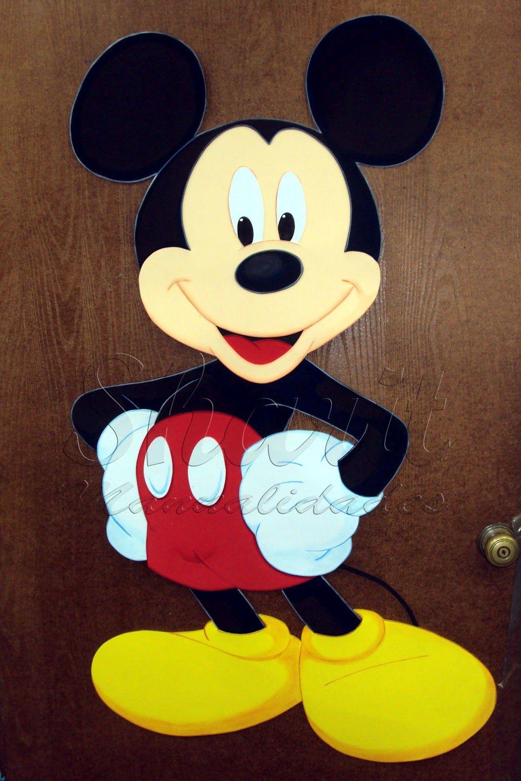 Resultado de imagen para manualidades en foami de mickey mouse ... 8c6fd9ca7da