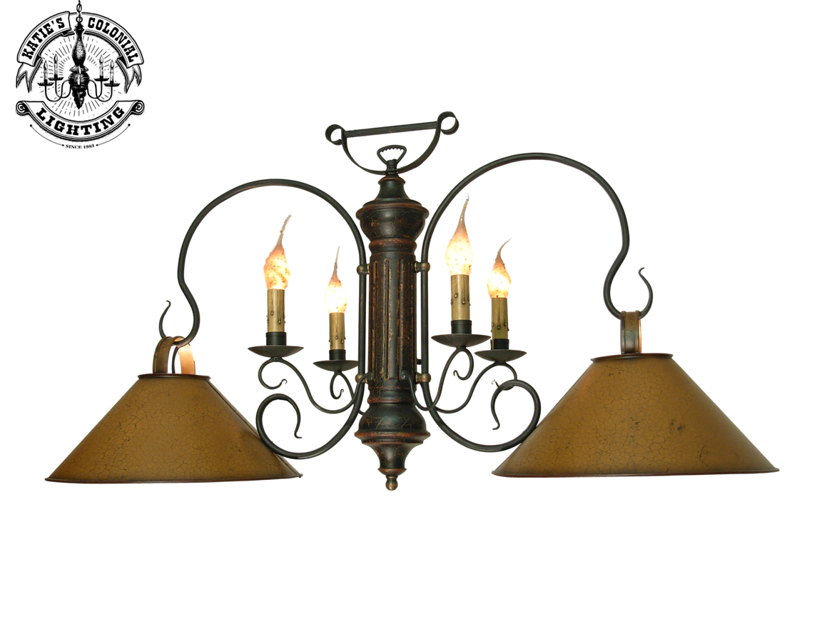 Large 2-Shade Timberline Island Light w/Four Arms - Island Lights ...