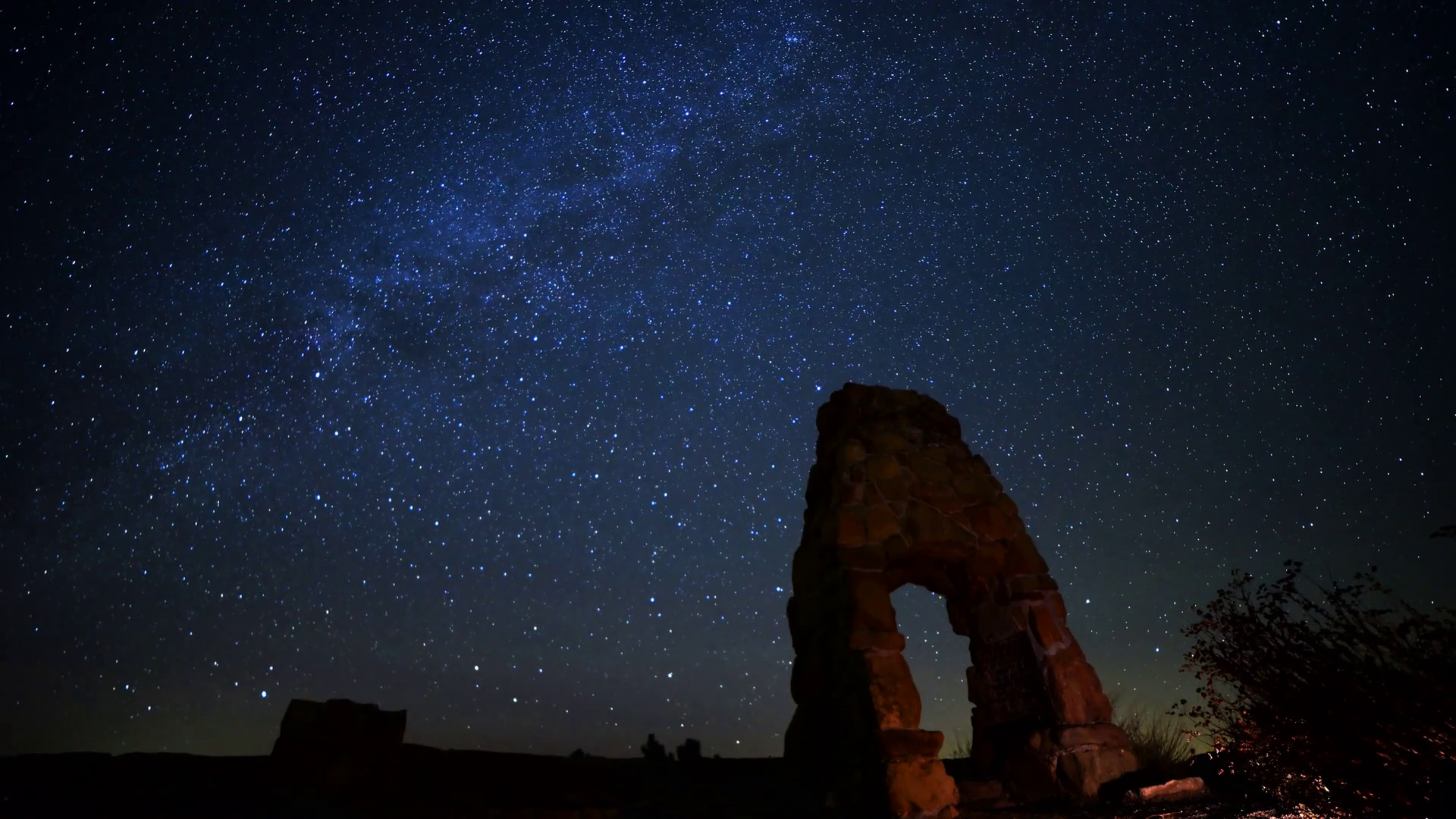 Milky Way Galaxy Over Abandoned Scenic Ruin