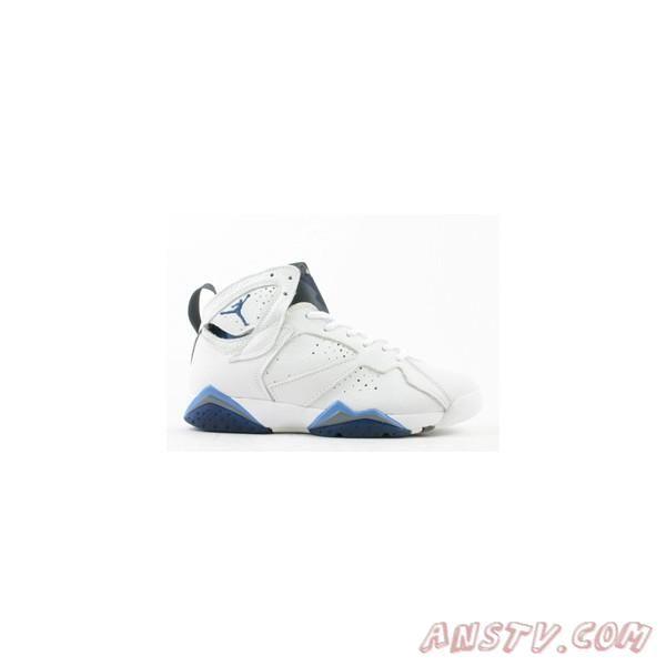 uk availability 6ec61 b1404 Air Jordan Homme Hommes Nike Air Jordan Retro 7 VII Gris Blanc Bleu
