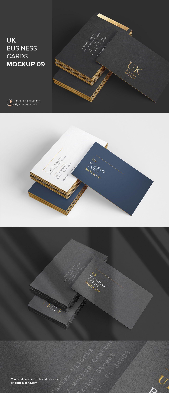 Uk Business Cards Mockup 09 Business Card Mock Up Business Card Size Business Cards