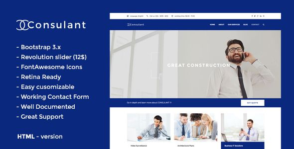 Download Free Consulant - Corporate \ Business HTML5 Template - audit templates free