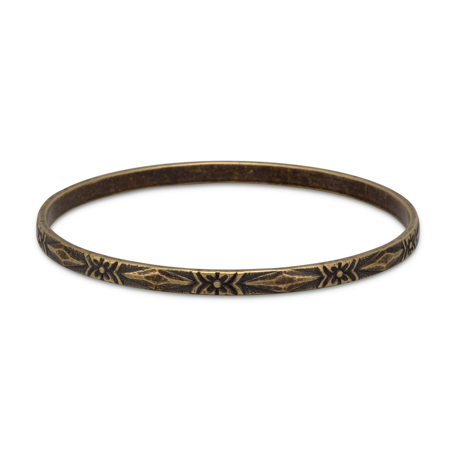 Oxidized brass bangle with floral design products