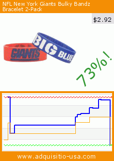 NFL New York Giants Bulky Bandz Bracelet 2-Pack (Sports). Drop 73%! Current price $2.92, the previous price was $10.99. https://www.adquisitio-usa.com/forever-collectibles/nfl-new-york-giants-bulky