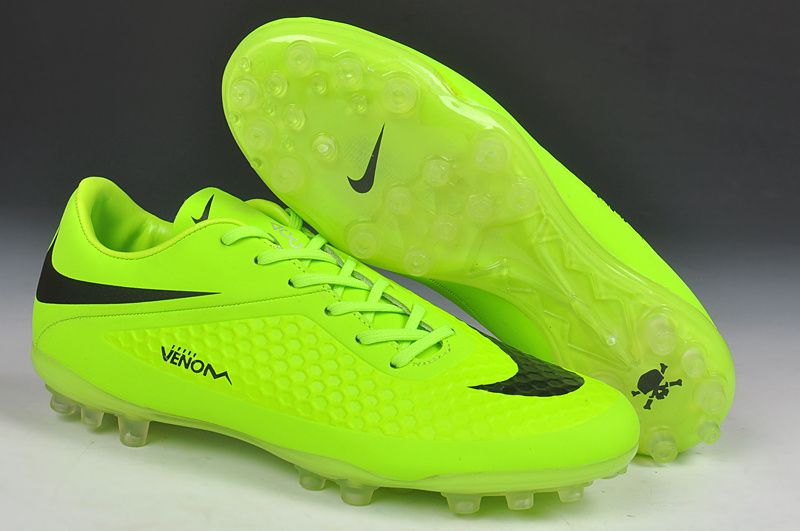 2014 New Nike Hypervenom Phelon AG Soccer Boots Cleats neon black .