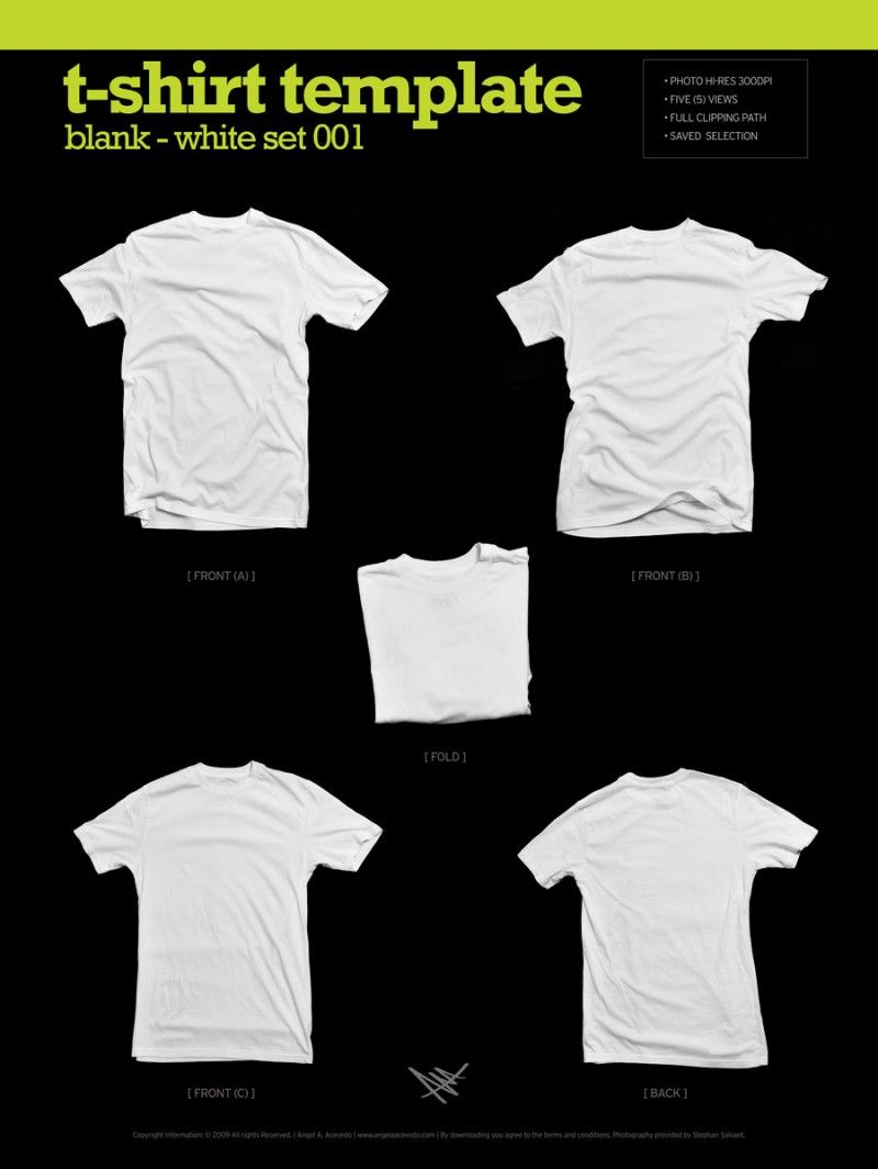 Plantillas para diseño de playeras blancas y negras | Mockup