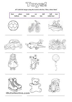 Labeling and colouring exercise - ESL worksheets | nacho ...